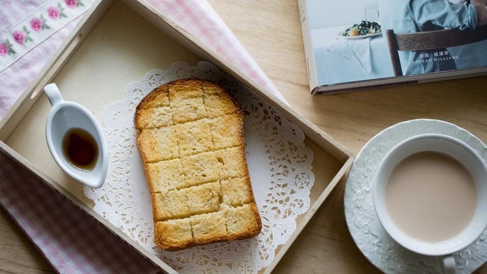 楓糖奶油厚片吐司