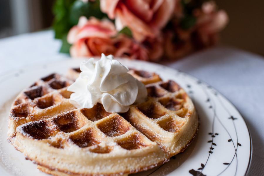 蜂蜜奶油格子鬆餅