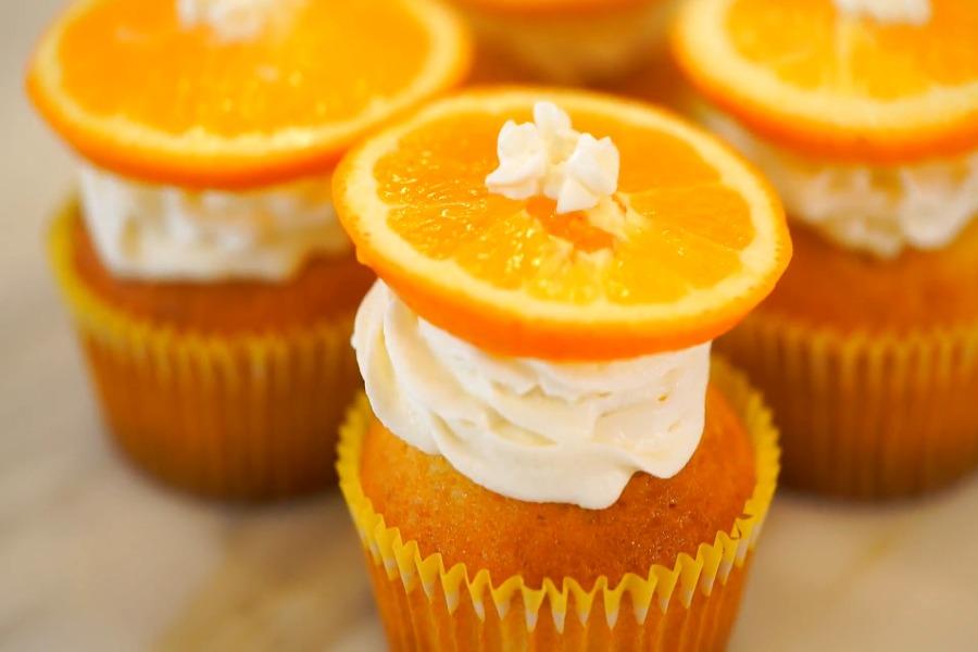 杯子蛋糕,鬆餅粉,甜點,柳橙,烘焙