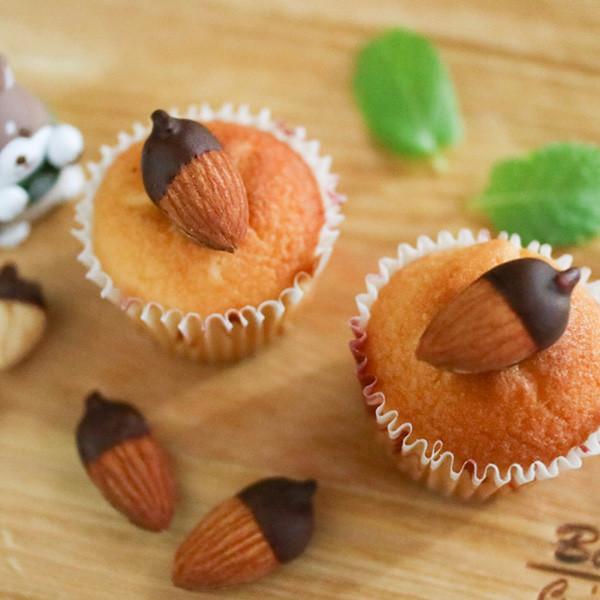 【廚房一隻柴】甜點裝飾~巧克力杏仁小橡實