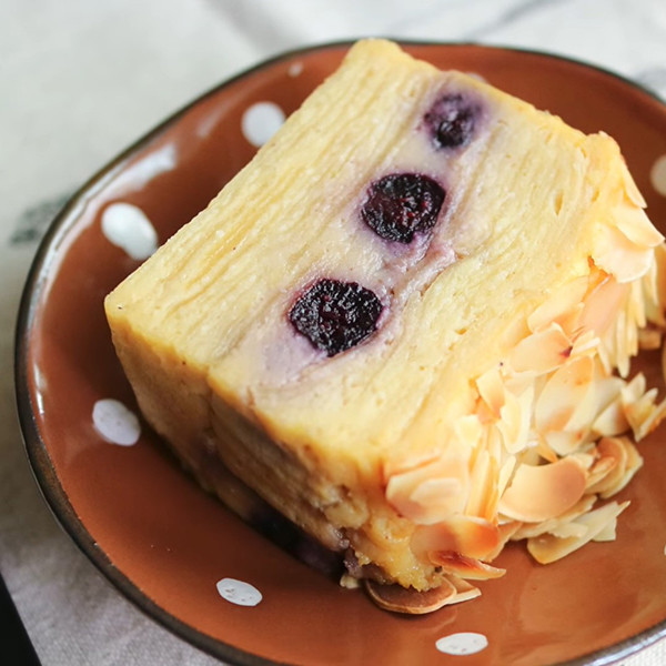 【廚房一隻柴】蘋果藍莓隱形蛋糕