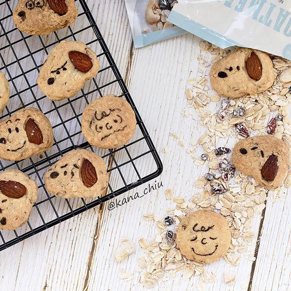【Kanaの烘焙小廚房】卡通造型燕麥餅乾