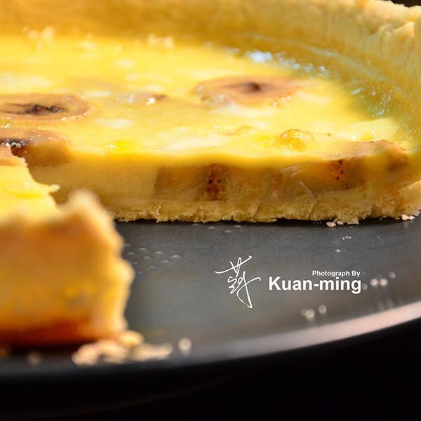 【影像生活】香蕉卡士達塔 Banana Custard Tart