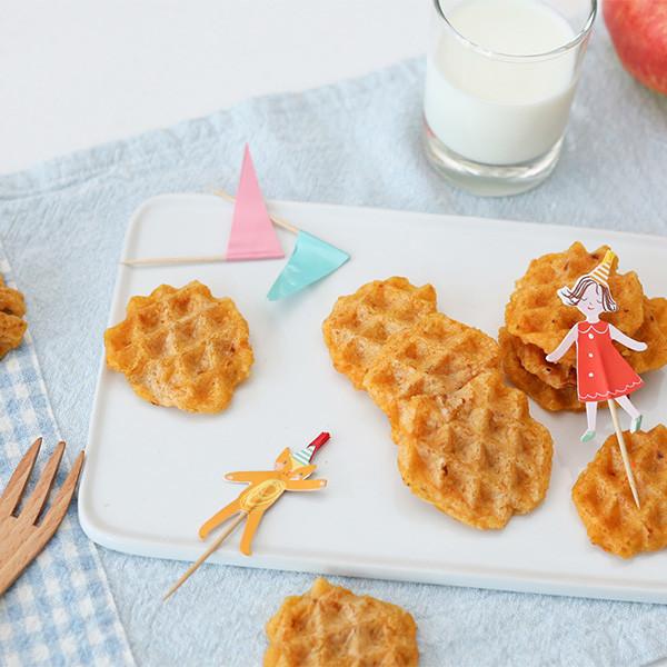鬆餅機大妙用~自製【地瓜紅蘿蔔米餅】