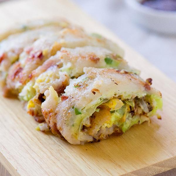 5分鐘美味早餐~【古早味高麗菜蛋餅】