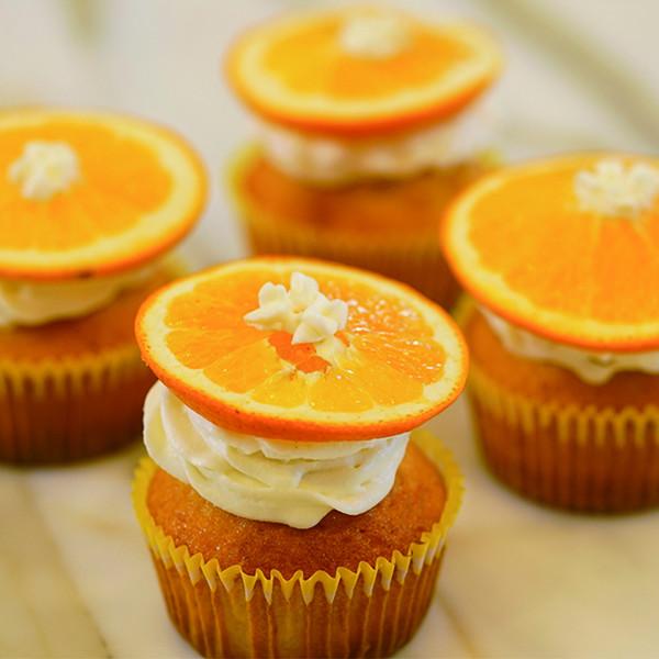 一根湯匙做蛋糕!鬆餅粉【柳橙杯子蛋糕】