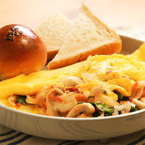 孩子早餐免煩惱,就吃豐富營養的【彩蔬歐姆蛋】