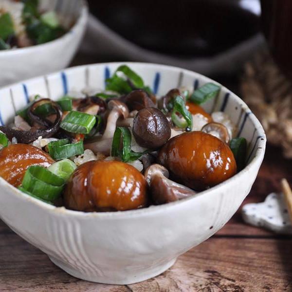 【饗瘦美味】栗子野菇雞肉炊飯