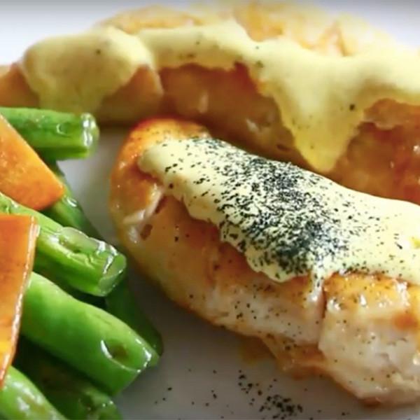 【Honney's Kitchen】香煎雞柳伴咖哩乳酪醬