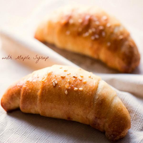 奶油香幸福味~【免揉楓糖牛角麵包】