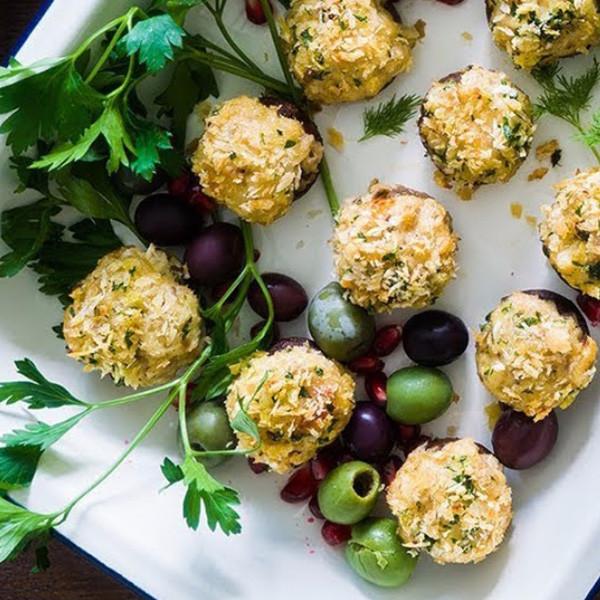 【我的C家廚房!Bon Appétit】焗釀蟹肉起司蘑菇
