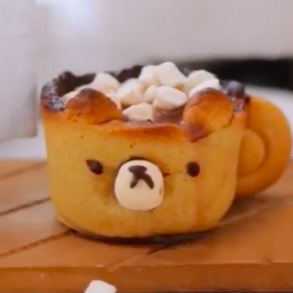 【kitb】把杯子也吃掉吧~小熊餅乾杯熱可可
