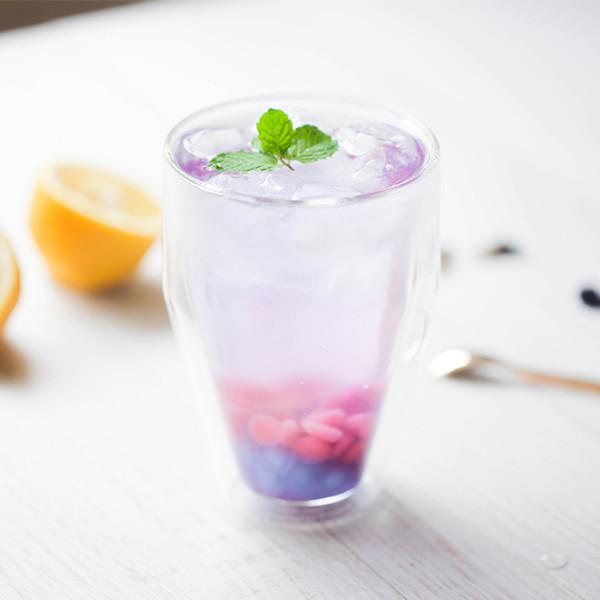 超有夏天感的冰涼飲料!天然無添加【蝶豆花珍珠氣泡飲】