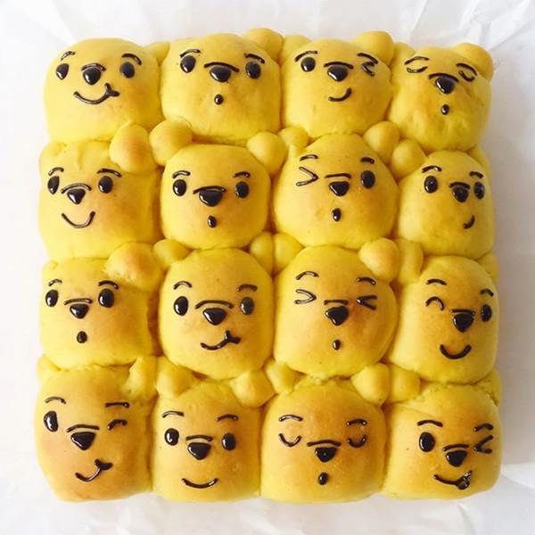 【Two Bites】小熊維尼麵包 Pooh Pooh Pull Apart Bread