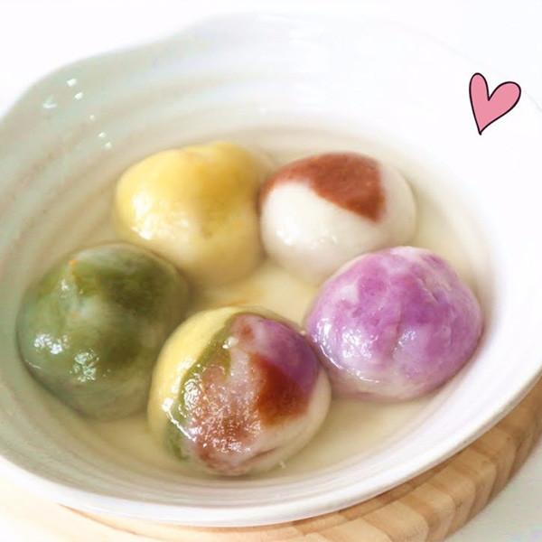 【Two Bites】天然色素琉璃湯圓