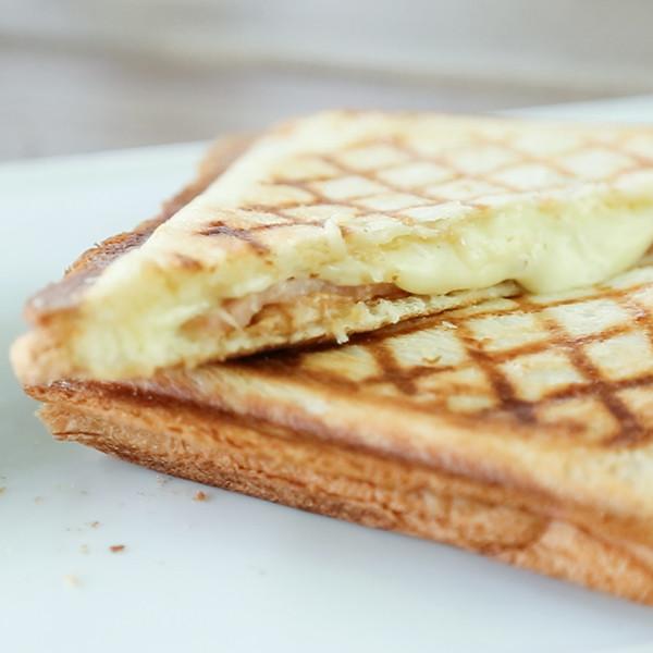 美味輕食早午餐~【楓糖火腿起司三明治】