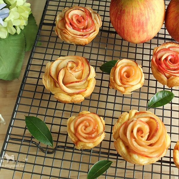【廚房一隻柴】心心相印~蘋果玫瑰酥