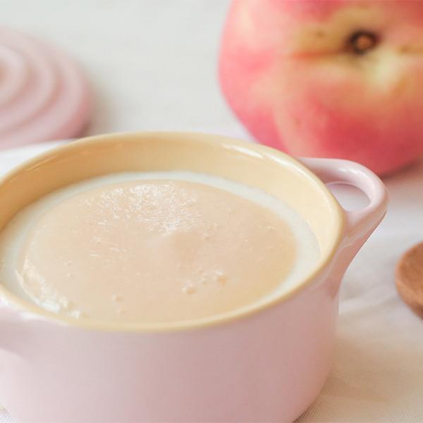 【副食品教學】寶寶開心大口吃!甜點系副食品~蜜桃米布丁