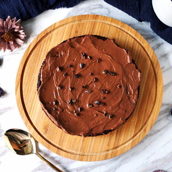 【桶子葉の吐司記 】全素無粉藜麥巧克力蛋糕