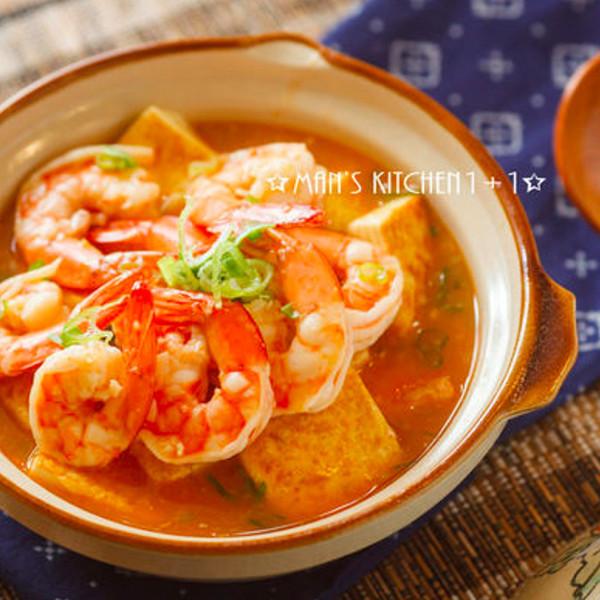 【男人廚房1+1】鮮蝦豆腐煲 Shrimp and Tofu pot