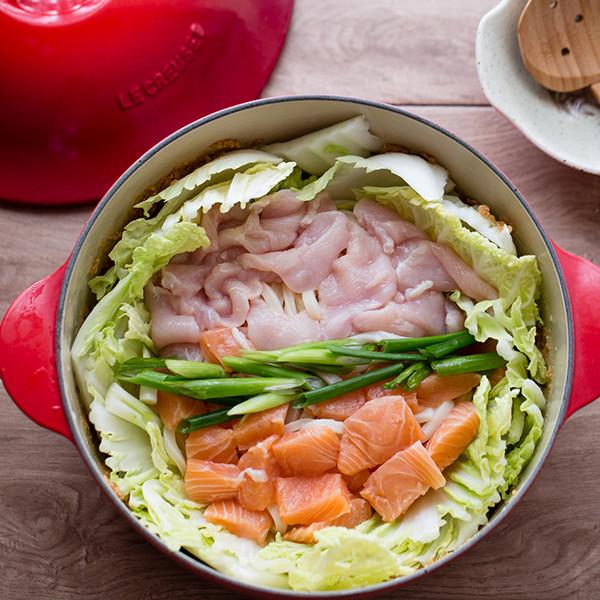 10分鐘懶人瘦身餐──豆乳味噌海陸土手鍋