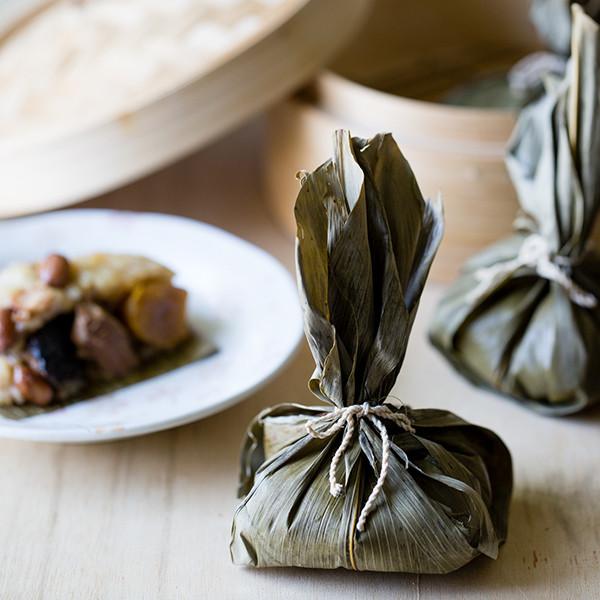 XO醬酒香福袋粽──包粽篇