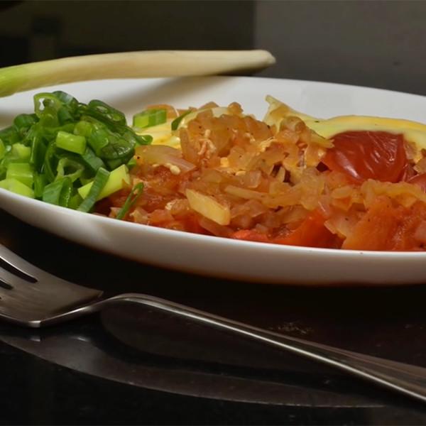 【影像生活】清冰箱料理~蕃茄洋蔥蛋