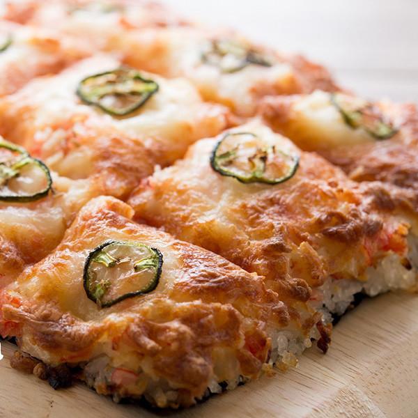 當壽司遇見Pizza!【香辣蟹肉Sushi Pizza】