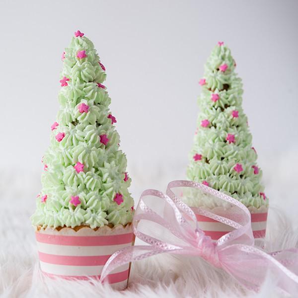 幸福童趣聖誕節──糖果聖誕樹杯子蛋糕