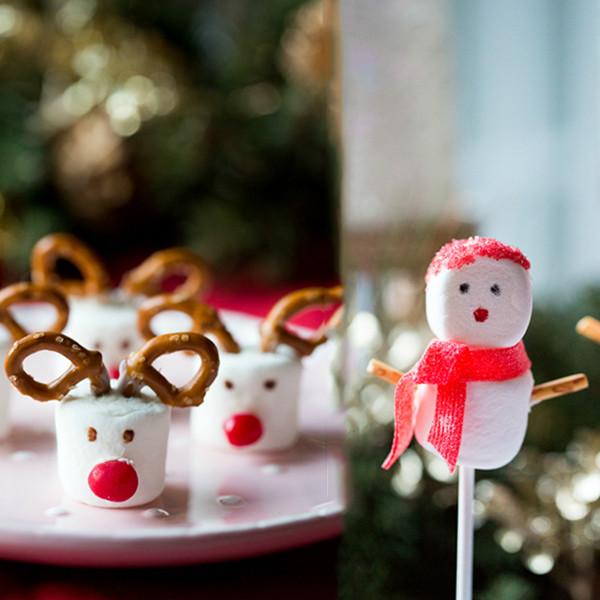 聖誕節親子手作甜點──麋鹿棉花糖&雪人棒棒糖