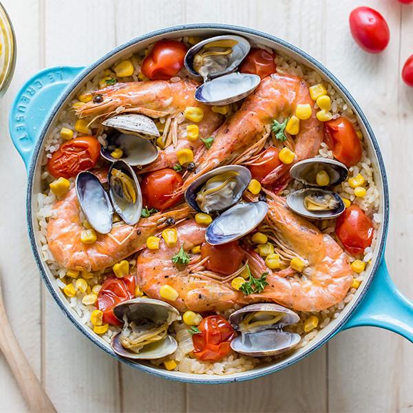 戶外一鍋料理【一鍋玉米海鮮燉飯】綠巨人玉米食譜設計