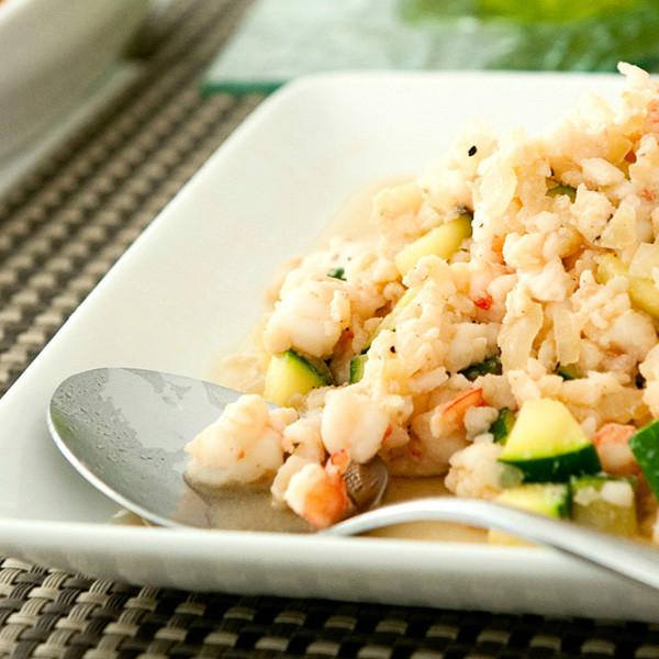 節瓜蝦鬆佐蘿蔓生菜──低脂健康無負擔