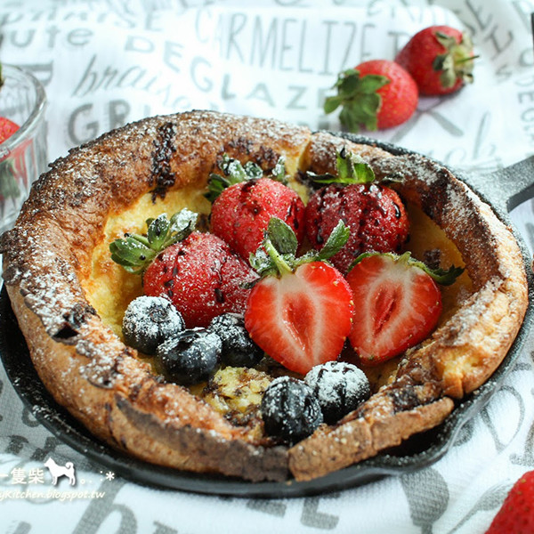 【廚房一隻柴】草莓荷蘭寶貝鬆餅