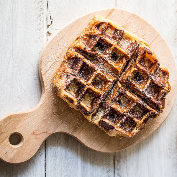 鬆餅機做創意法式吐司─花生巧克力法國鬆餅