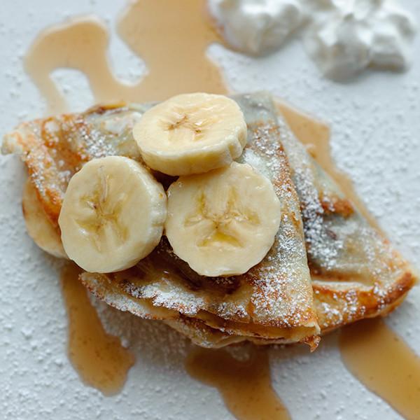 迷人午茶風華 - 法式榛果香蕉可麗餅Crêpe