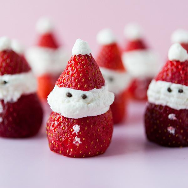 3步驟超可愛聖誕甜點──聖誕草莓老公公
