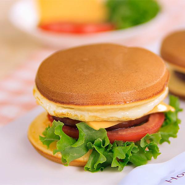 【Amy的私人廚房】超簡單!用鬆餅粉+七格鍋做「鬆餅漢堡&銅鑼燒」