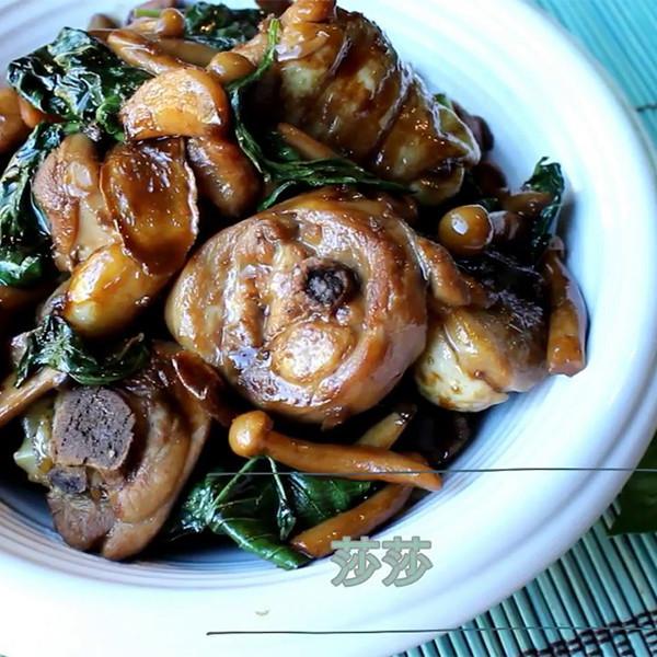 【莎莎的手作幸福料理】三杯菇菇雞