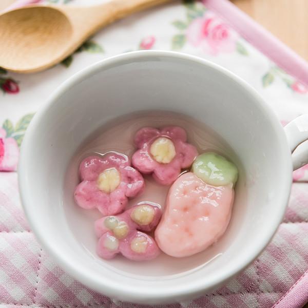 裝可愛草莓元宵節──5分鐘超簡易豆腐湯圓