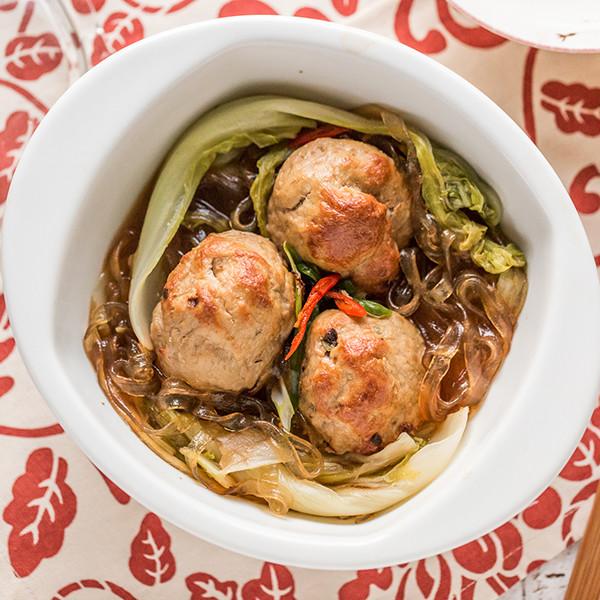 最受歡迎第一名年菜!「電鍋」紅燒獅子頭粉絲煲