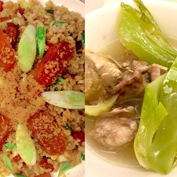 【駐站主廚鐵雄上菜】長年菜雞湯+烏魚子糙米炒飯