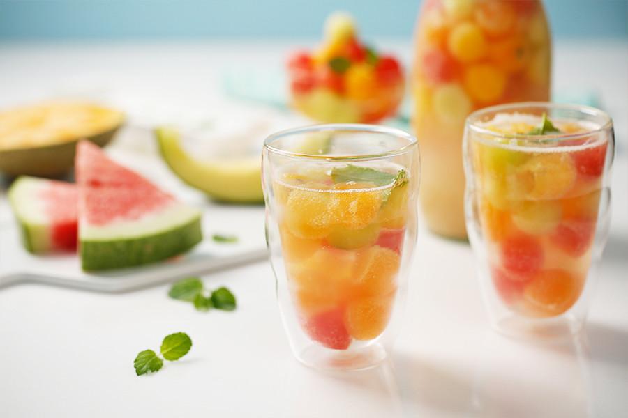 水果,氣泡,飲料,夏日,消暑