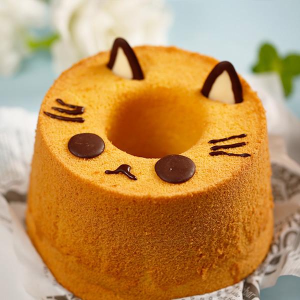 蛋糕也會學貓叫!【戚風貓咪蛋糕】