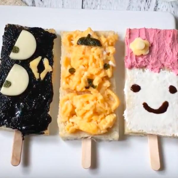 【kitb】夏日特製輕食~三麗歐冰棒造型三明治