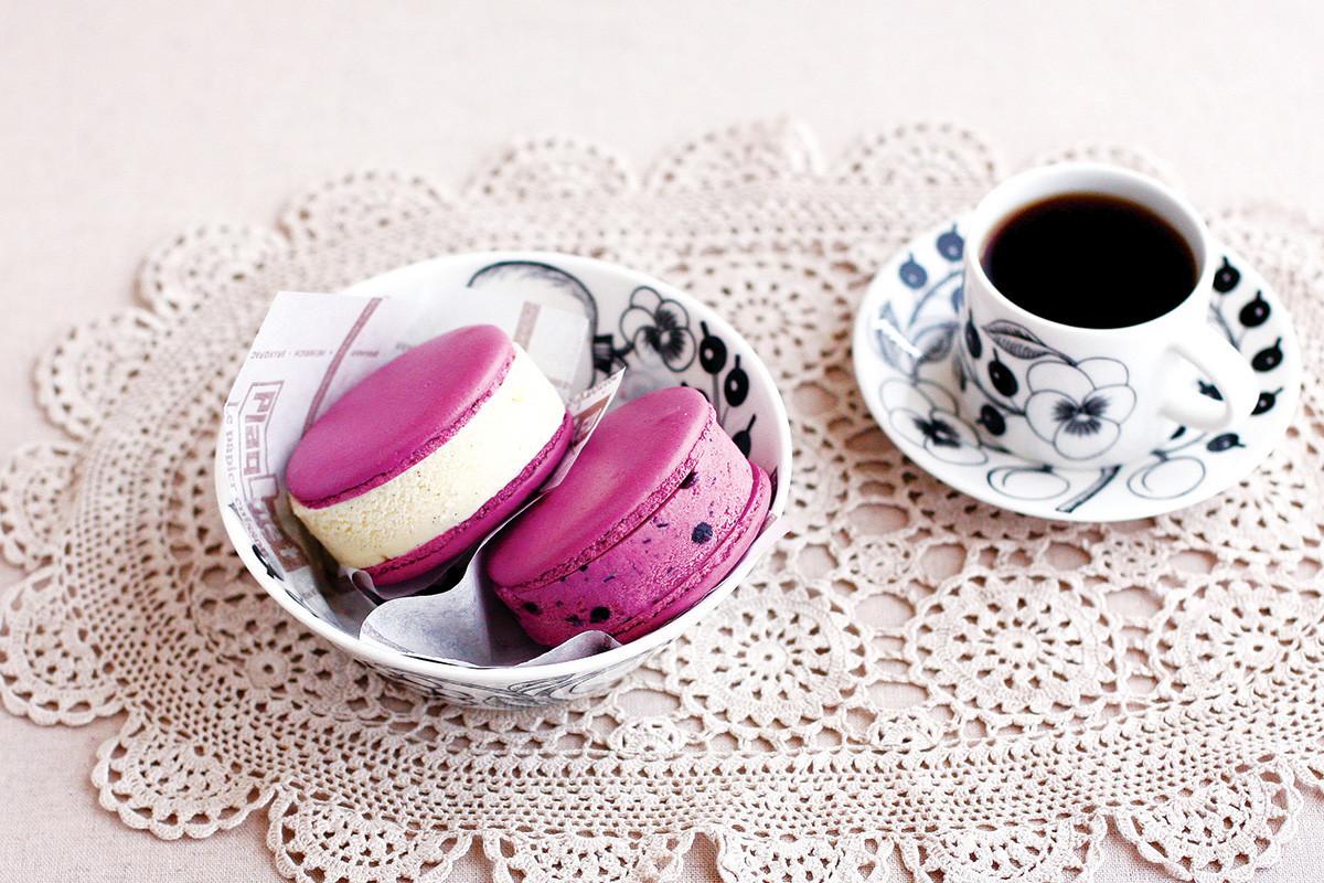 冰淇淋,馬卡龍,下午茶,甜點