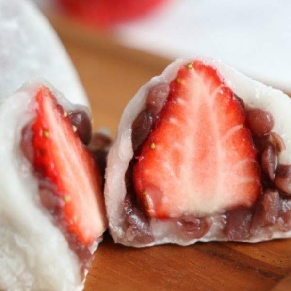 【Peachy Bunny Mel】最愛日式甜點~紅豆草莓大福