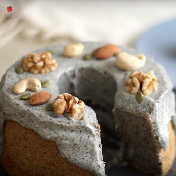 【Apron】清爽甜點這樣做~黑芝麻戚風蛋糕