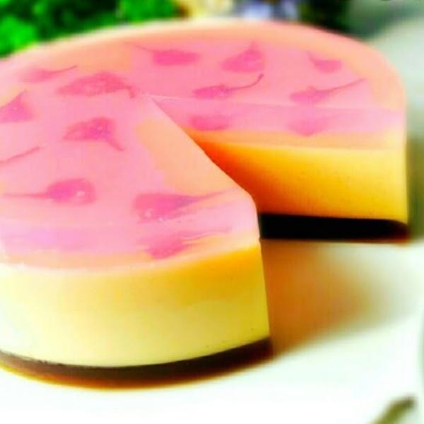 【小黃鴨廚房】又美又低卡的神奇甜點~櫻花果凍蛋糕
