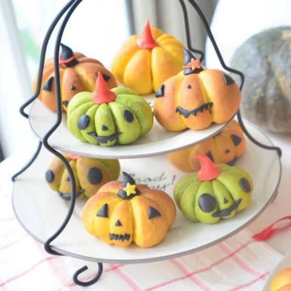【小樹懶廚房】萬聖節南瓜麵包 Halloween Pumpkin Bread