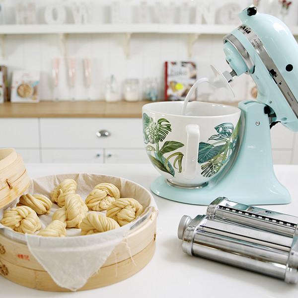 美味「牛奶花捲」輕鬆搞定!KitchenAid桌上型攪拌機